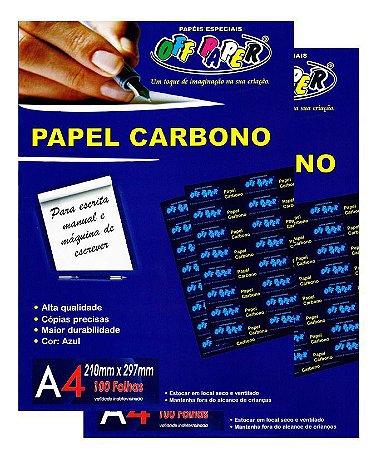 Filme de Carbono A4 Off Paper  Pacote Com 100 Folhas