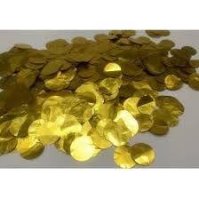 Confete Metalizado para Bola e Balão - Circulos Dourado R.Af100-12