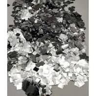Confete Metalizado Para Decoração De Balões e Bubbles Transparentes Formato Picados Cor Prata Pacote Com 15 Gramas