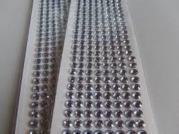Cartela Adesiva Strass Prata 6mm R.061 Com 320 Unidades