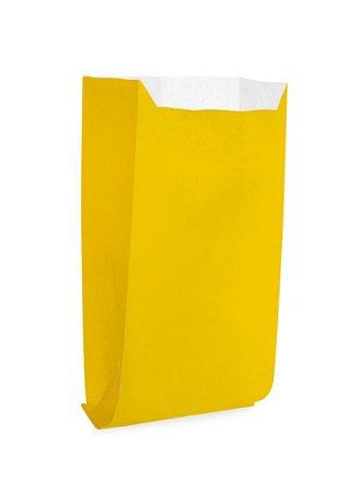 Saquinho de Papel Amarelo  13cm X18cm R.ep2088 Pacote Com 25