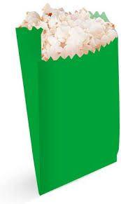 Saquinho de Papel Verde Claro 13cm X18cm R.ep2088 Pacote Com 25