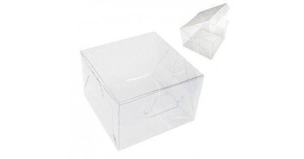 Caixinha de Acetato Transparente 6cm x 6cm R.pp005 Pacote Com 12