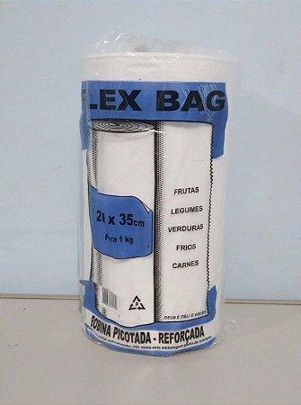 Saco Plástico Em Rolo 20cm x 35cm Em Média 640 Sacos