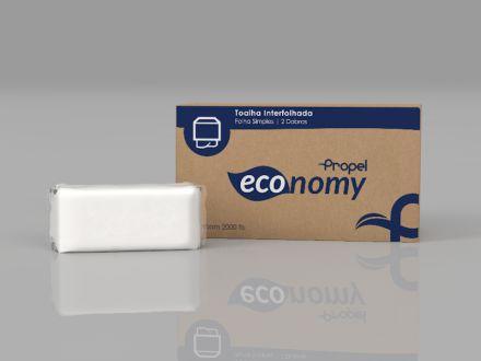 Toalha Interfolhada Propel Economy Folhas Simples 100% Celulose Virgem 22cm x 20,70cm Caixa Com 2000 Folhas R.ti Ec 22224