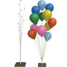 Suporte de Fibra Grande para Balão Cor Branco 1 metro x 20cm Com 12 Hastes Base em Mdf R.Dc1052 Unidade