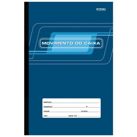 Livro Movimento do Caixa Ofício 20mm x 30mm com 100 folhas R.6412 Unidade