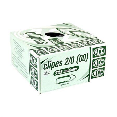 Clipe de Aço Galvanizado Acc Número 2/0 Caixa Com 725 Unidades