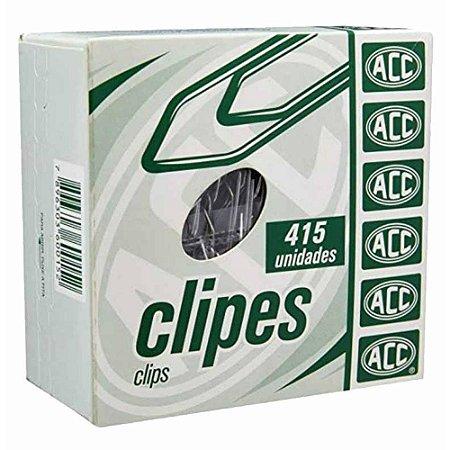 Clipe de Aço Galvanizado Acc Número 3/0 Caixa Com 415 Unidades
