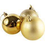 Bola de Natal Pvc 6cm Cor Dourada R.ntb85606 Pacote Com 6
