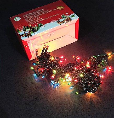 Grão de Arroz Chibrali Com 100 Micro Lâmpadas Coloridas 8 Funções R.11008 Unidade