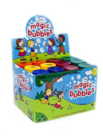 Bolha Sabao Amalu Magic Bubbles Tradicional Caixa Com 12