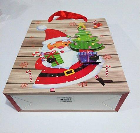 Sacola De Papel 3D Natal 26cm x 32cm x 10cm R.nts1002 Unidade