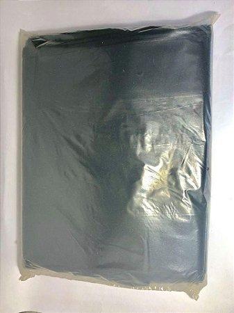 Saco para Lixo 60 Litros 70 cm de Comprimento x 25 cm de Largura Cor Preta Fardo Com 100 Unidades