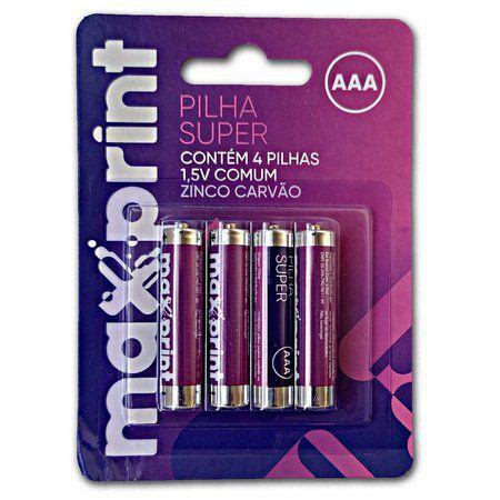 Pilha Aaa Maxprint R.756468 Cartela Com 4