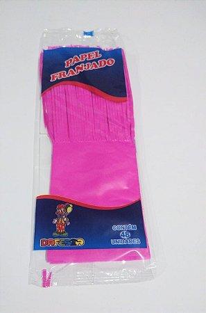 Papel de Bala Dafesta Com Uma Franja Cor Pink Pacote Com 48