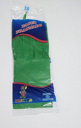 Papel de Bala Dafesta Com Uma Franja Cor Verde Bandeira Pacote Com 48