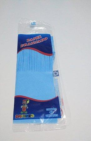 Papel de Bala Dafesta Com Uma Franja Cor Azul Claro Pacote Com 48