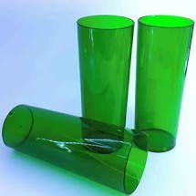 Copo Long Drink Verde Transparente 300ml Unidade