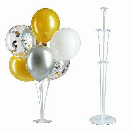 Suporte para Balão Rfestas Transparente 75cm Com 7 Hastes R.ydh2193