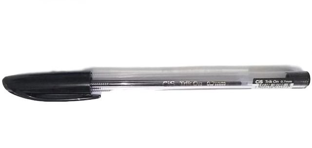 Caneta Esferográfica Cis Trik On Preta 0.7mm Unidade