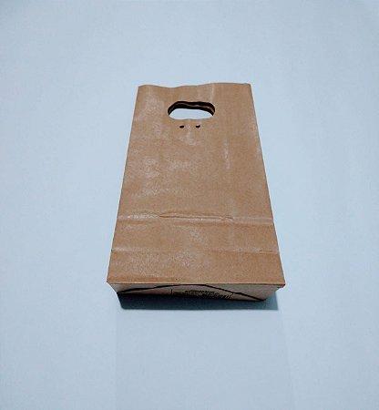 Sacola Kraft Boca de Palhaço Cromus Tamanho Pequeno 30cm x 15cm x 7,5cm Unidade