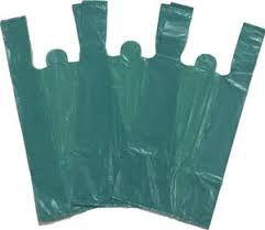 Sacola Plástica Camiseta Reforçada Verde 30x45 Fardo 1 Kilo