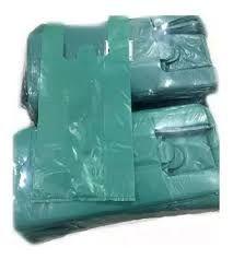 Sacola Plástica Camiseta Reforçada 50cm x 60cm Verde Fardo de 1kg