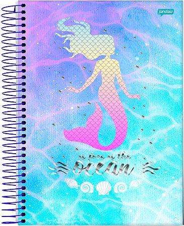 Caderno Espiral Universitário Capa Dura Sortida Jandaia Dream 20cm x 27cm 10 Matérias 160 folhas R.69006 Unidade