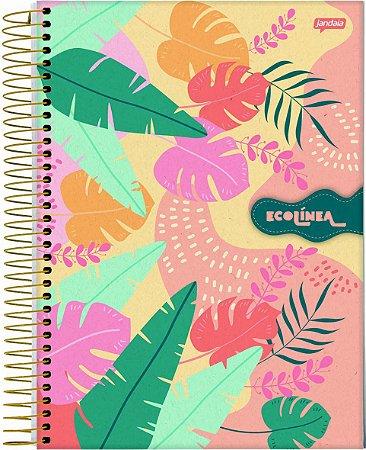 Caderno Espiral 1/8 Capa Dura Sortida Jandaia Eco Linea 14cm x 10cm Com 80 folhas R.69052 Unidade