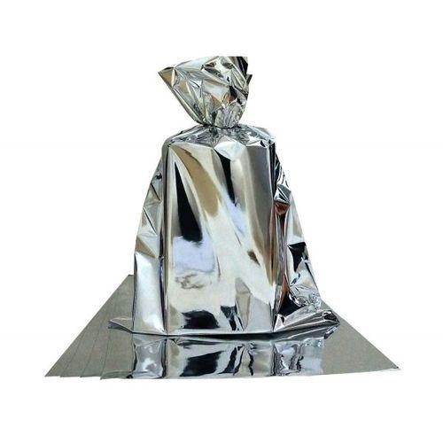 Saco para Presente Cromus Metalizado Prata 25cm x 37cm (não Acompanha o Laço) Unidade