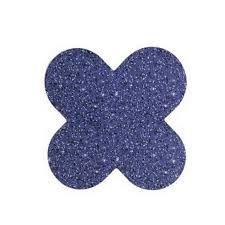 Forma 4 Pétalas Nc Toys Glitter Azul Escuro Pacote Com 50