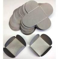 Forma 4 Pétalas Nc Toys Metalizado Prata Frente e Verso Pacote Com 50