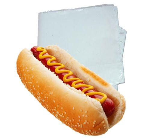 Saco Plástico para Mini Hot Dog 15cm de Largura x 10cm de Altura Pacote Com 100