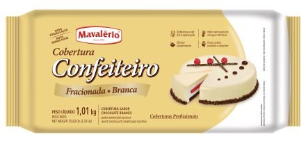 Cobertura Chocolate em Barra Confeiteiro Fracionada Mavalério Chocolate Branco 1,01Kg R.09274 Unidade
