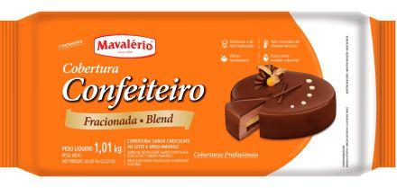 Cobertura Chocolate em Barra Confeiteiro Fracionada Mavalério Blend 1,01KG R.09277 Unidade