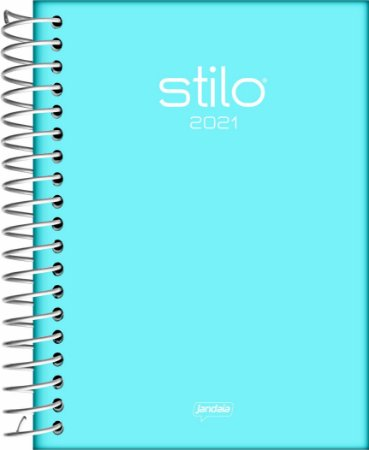Agenda Espiral Diária Jandaia Stilo Capa Sortida 13cm x 17cm Com 352 Páginas R.54023 Unidade