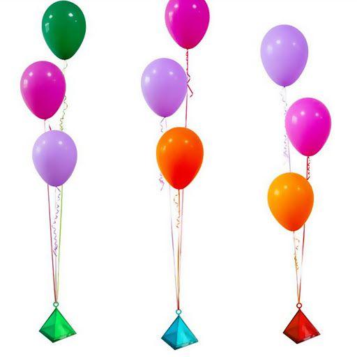 Enfeite Plástico Decorativo Pega Balão Formato Pirâmide Rfestas Cor Sortida Não Acompanha Balão R.ydh2529 Unidade