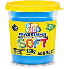 Massinha de Modelar Soft Acrilex Azul 150gr R.073150109 Unidade