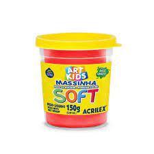 Massinha de Modelar Soft Acrilex Vermelho 150gr R.073150103 Unidade