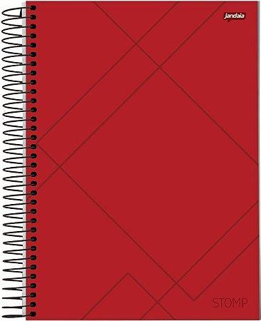 Caderno Espiral Universitário Capa Dura Sortida Jandaia Stomp 20cm x 27cm 1 Matéria 96 Folhas R.63625 Unidade