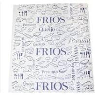Papel Acoplado para Fatiados/ Frios Cor Branco 30cm x 38cm Caixa Com 400