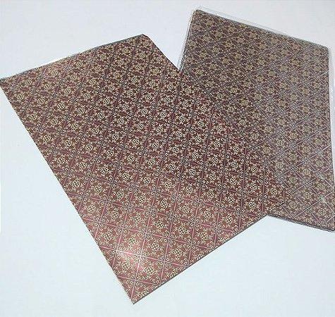 Saco Metalizado Decorado Clássico 20cm x 30cm Unidade