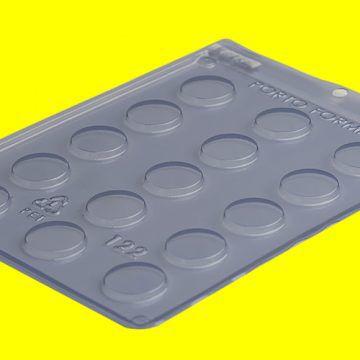 Forma de Acetato Para Chocolate - Bombom Tipo Hóstias R.122 Unidade