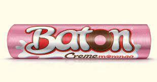 Baton Garoto Chocolate Ao Leite Recheio Sabor Morango 16 Gramas Unidade