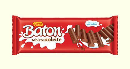 Tablete Baton Garoto Chocolate Ao Leite 96 Gramas Unidade