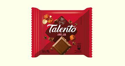 Chocolate Garoto Talento Tablete Avelãs 90 Gramas Unidade