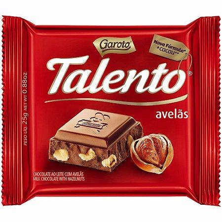 Chocolate Garoto Talento Avelãs 25 Gramas Unidade