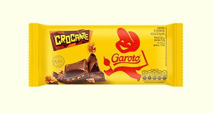Barra de Chocolate Ao Leite Garoto Crocante Com Amendoim 90 Gramas Unidade
