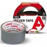 Fita Adesiva Silver Tape Adere Cor Prata 45mm x 5 Metros R.800s Unidade
